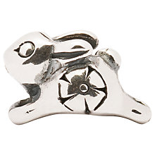 Buy Trollbeads Jumping Baby Rabbit Silver Bead Online at johnlewis.com