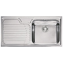 Buy Franke Galassia GAX 611 Inset Sink with Right Hand Bowl, Stainless Steel Online at johnlewis.com