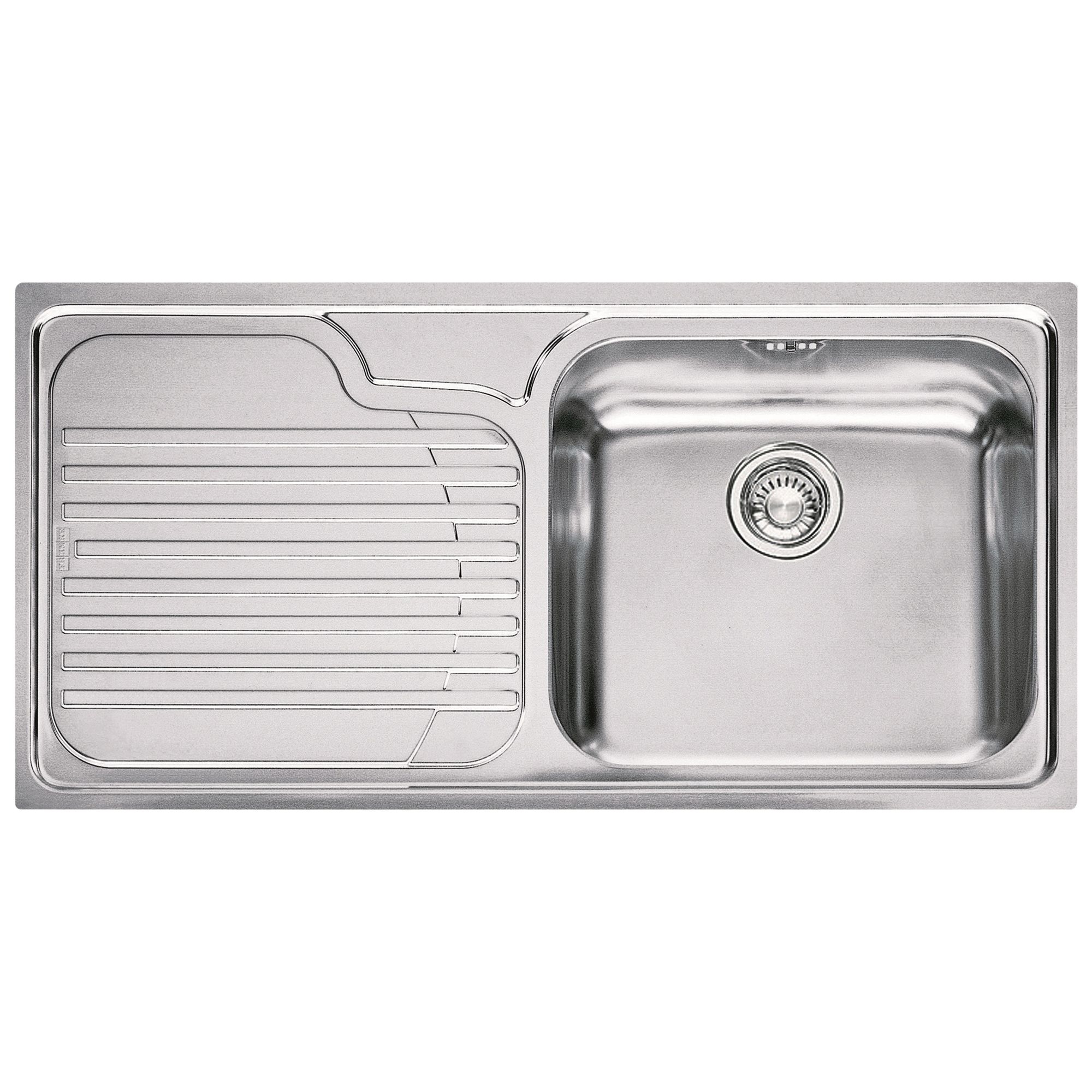 Franke Franke Galassia GAX 611 Inset Sink with Right Hand Bowl, Stainless Steel