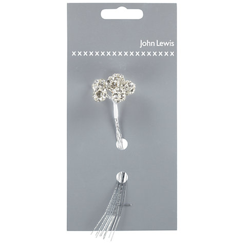 Buy John Lewis Diamante Stones on Wire, Pack of 6 Online at johnlewis.com