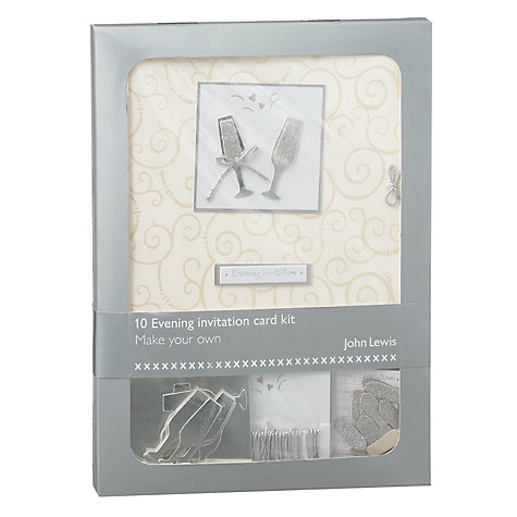 Buy John Lewis Champagne Evening Invitation Card Kit Online at johnlewis.com