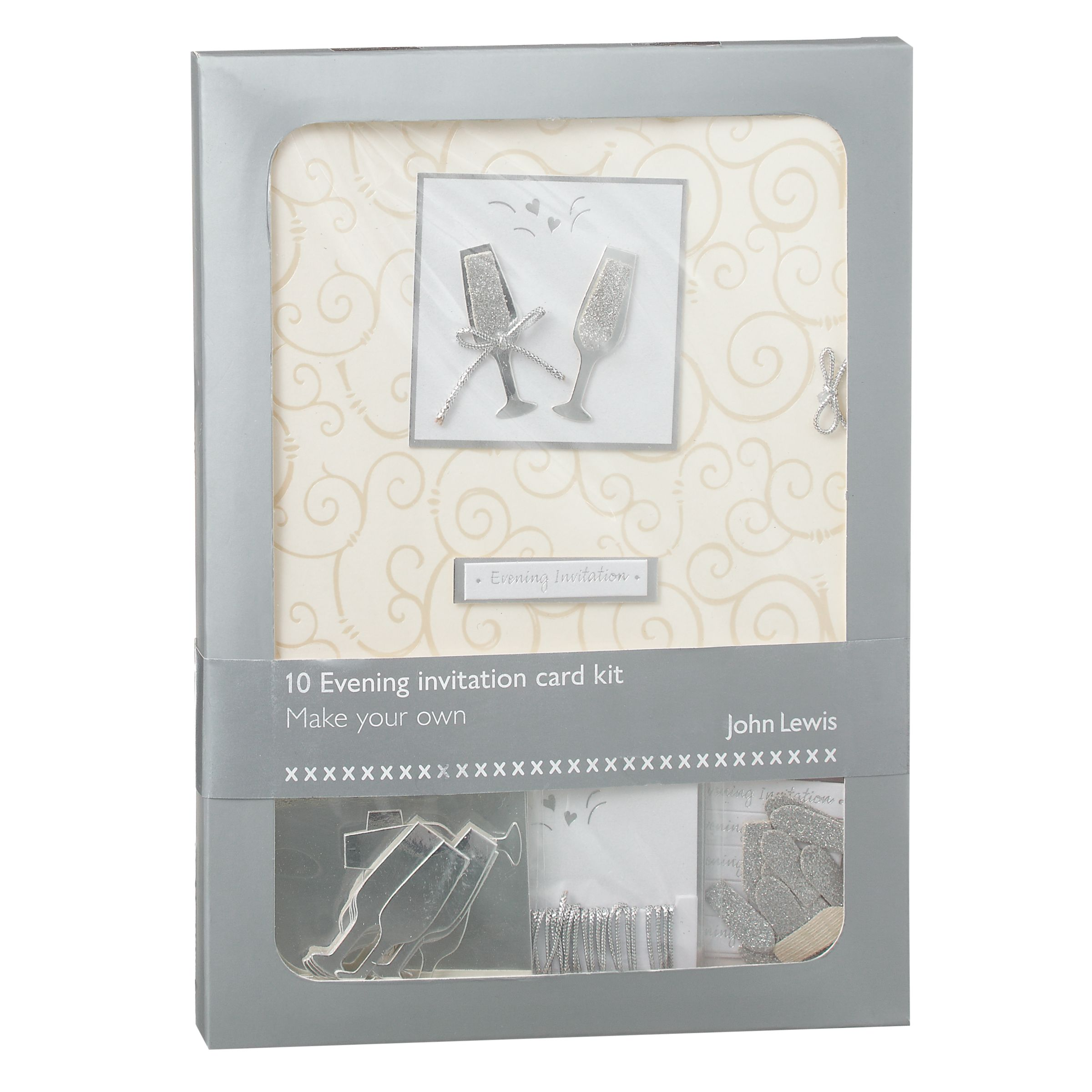 John Lewis Champagne Evening Invitation Card Kit