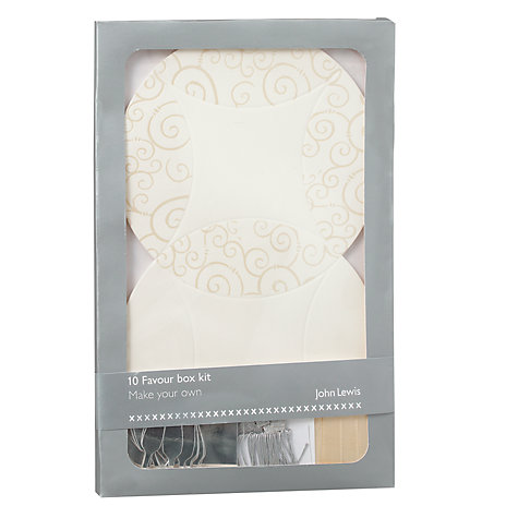 Buy John Lewis Champagne Favour Box Kit Online at johnlewis.com