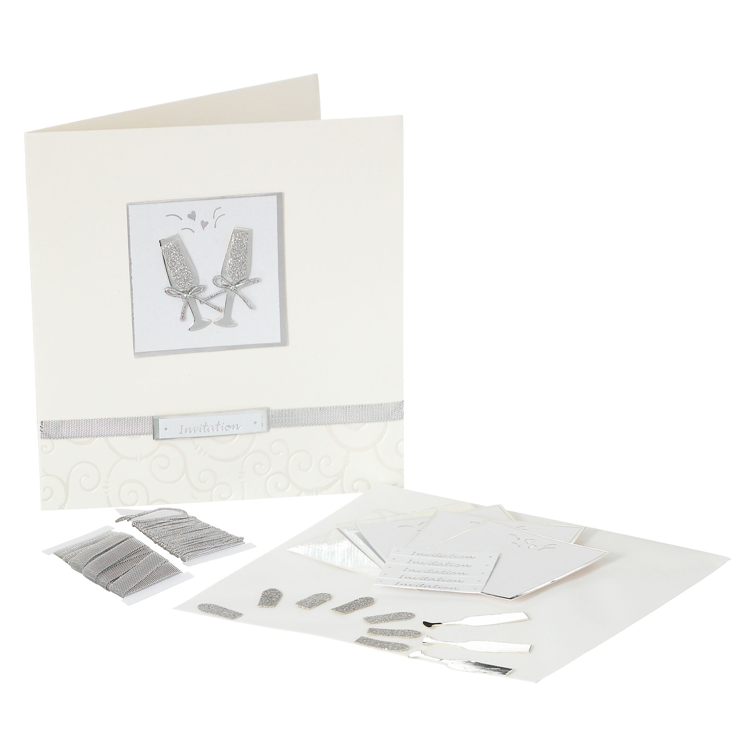 John Lewis Wedding Invitation Kit, White