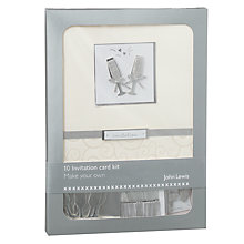 Buy John Lewis Wedding Invitation Kit, White Online at johnlewis.com