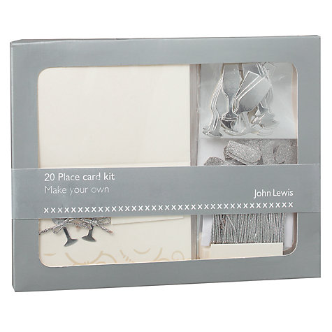 Buy John Lewis Champagne Name Card Kit Online at johnlewis.com