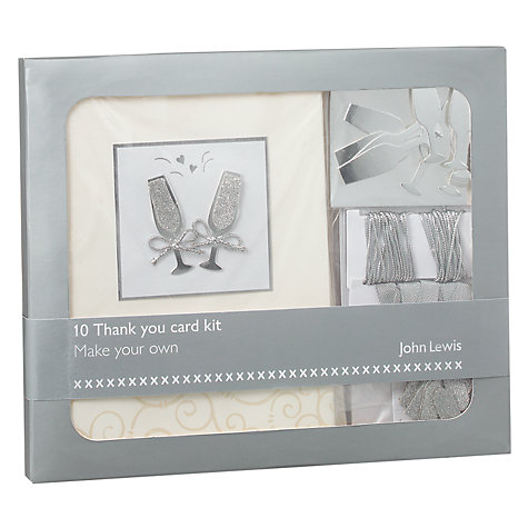 Buy John Lewis Champagne Thank You Card Kit Online at johnlewis.com