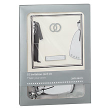 Buy John Lewis Rings Invitation Card Kit Online at johnlewis.com