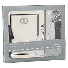 Buy John Lewis Rings Table Number Kit Online at johnlewis.com