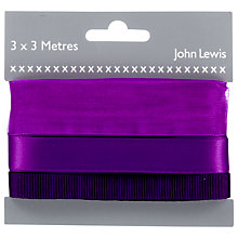 Buy John Lewis Ribbon Pack, 3 x 3m Online at johnlewis.com