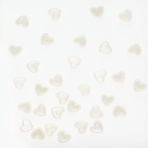 Buy Heart Embellishments, Pearl, Pack of 30 Online at johnlewis.com