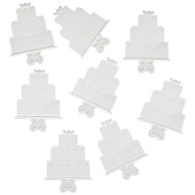 Buy Wedding Cake Embellishments, White, Pack of 8 Online at johnlewis.com