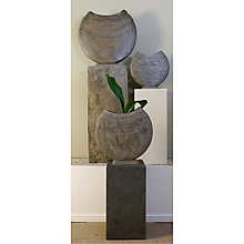 Buy Foras Ikra 40 Garden Sculpture with Surmi Square 60cm Natural Slate Plinth Online at johnlewis.com