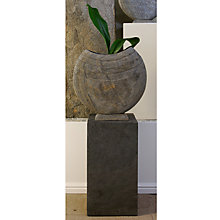 Buy Foras Ikra 40 Garden Sculpture with Surmi Square 60cm Polished Slate Plinth Online at johnlewis.com