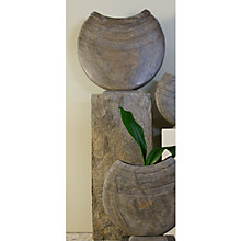 Buy Foras Ikra 50 Garden Sculpture with Surmi Square 75cm Natural Honed Slate Plinth Online at johnlewis.com