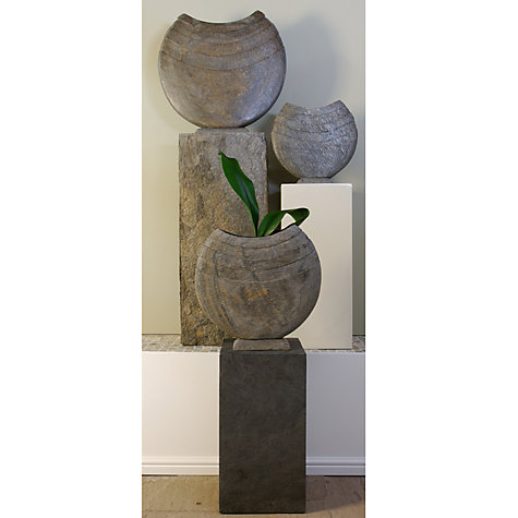 Buy Foras Ikra 60 Garden Sculpture with Surmi Square 90cm Natural Slate Plinth Online at johnlewis.com