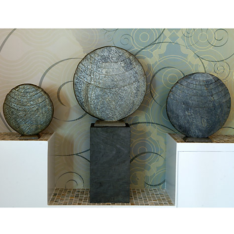 Buy Foras Caviara 50 Garden Sculpture with Surmi Square 60cm Polished Slate Plinth Online at johnlewis.com