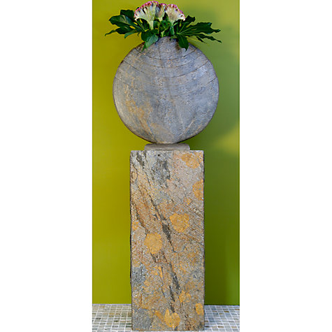 Buy Foras Caviara 60 Garden Sculpture with Surmi Square 90cm Natural Slate Plinth Online at johnlewis.com