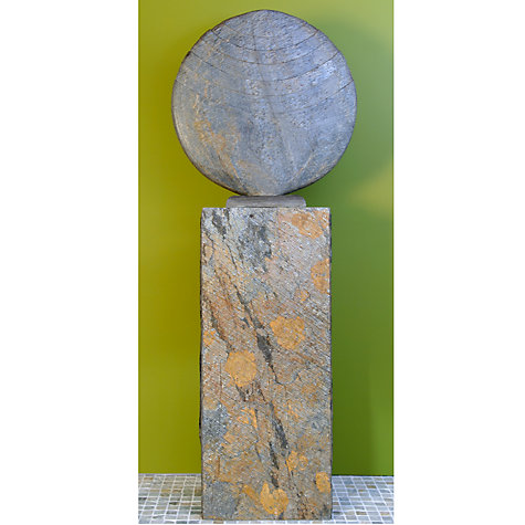 Buy Foras Caviara 50 Garden Sculpture with Surmi Square 75cm Natural Honed Slate Plinth Online at johnlewis.com