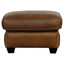Buy John Lewis Hudson Leather Footstool Online at johnlewis.com
