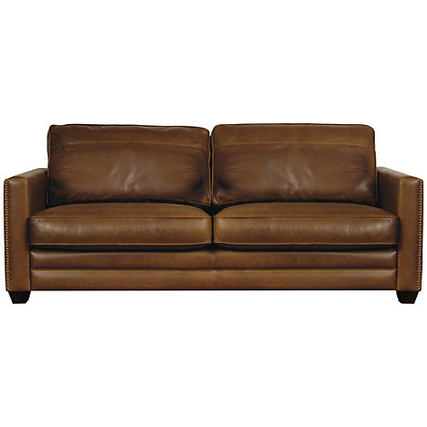 Buy John Lewis Hudson Grand Leather Sofa Online at johnlewis.com