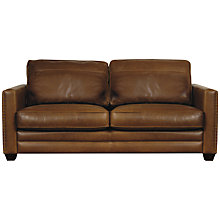Buy John Lewis Hudson Large Leather Sofa with Dark Legs Online at johnlewis.com