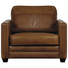 Buy John Lewis Hudson Leather Snuggler Online at johnlewis.com