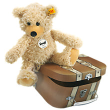 Buy Steiff Charly Teddy Bear in a Suitcase, Beige, 28cm Online at johnlewis.com