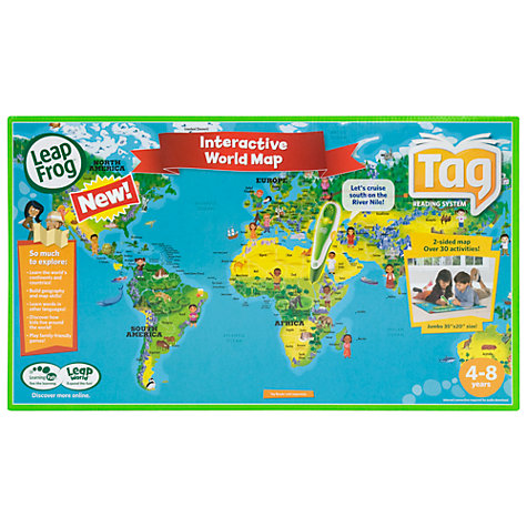 Buy LeapFrog Tag World Map Online at johnlewis.com
