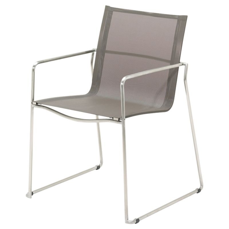 Gloster Asta Outdoor Dining Armchair, Taupe
