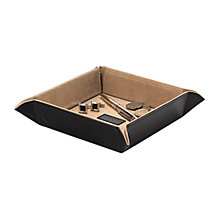 Buy Aspinal of London Leather Tidy Tray, Black Online at johnlewis.com