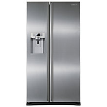 Buy Samsung RSG5UURS American Style Fridge Freezer, A+ Energy Rating, 91cm Wide, Silver Online at johnlewis.com