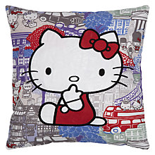 Buy Hello Kitty For Liberty Art London Square Cushion, Multi Online at johnlewis.com