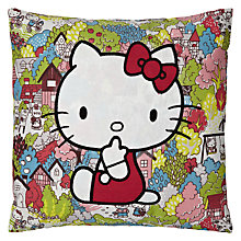 Buy Hello Kitty for Liberty Art London Town Cushion, Multi Online at johnlewis.com