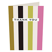 Buy Caroline Gardner Stripes Thank You Cards, Pack of 10 Online at johnlewis.com