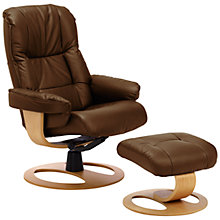 Buy John Lewis Stockholm Recliner Armchair and Footstool Online at johnlewis.com