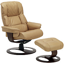 Buy John Lewis Stockholm Reclining Armchair and Footstool, Espresso Base Online at johnlewis.com