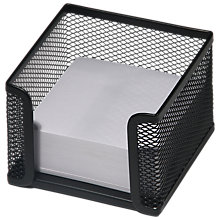 Buy Osco Black Mesh Memo Pad & Paper Online at johnlewis.com