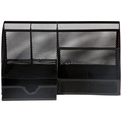 Buy Osco Black Mesh Desk Organiser, Large Online at johnlewis.com