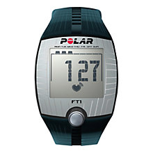 Buy Polar FT1 Heart Rate Monitor Sports Watch, Black Online at johnlewis.com