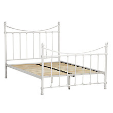 Buy John Lewis Banbury Bedstead, Cream, Kingsize Online at johnlewis.com
