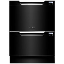 Buy Fisher & Paykel DD60DCHB7 Built-in Double DishDrawer Dishwasher, Black Online at johnlewis.com