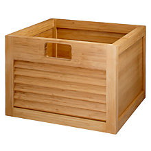 Buy John Lewis Scandi Bathroom Storage Box, Natural Online at johnlewis.com