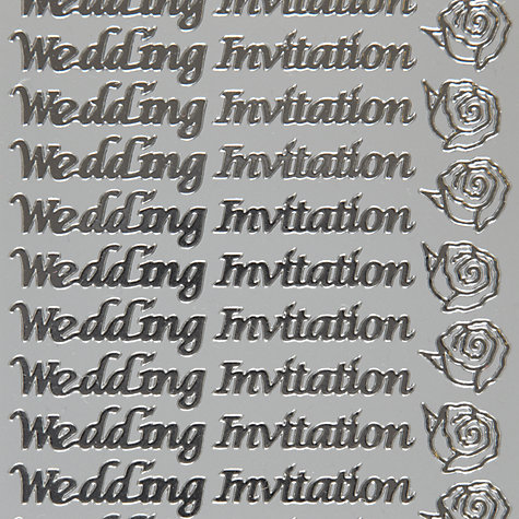 Buy John Lewis Wedding Invitation Stickers Online at johnlewis.com