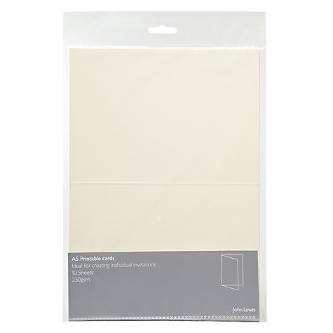 Buy John Lewis Invitation Cards, A5, Pack of 10 Online at johnlewis.com