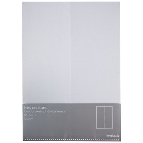 Buy John Lewis Invitation Inserts, A5, Pack of 10, Pearl Online at johnlewis.com