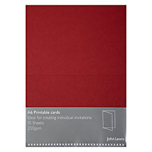 Buy John Lewis Invitation Cards, A6, Pack of 10 Online at johnlewis.com