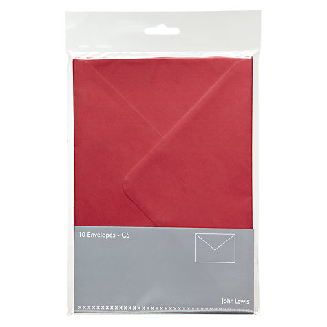 Buy John Lewis Invitation Envelopes, C5, Pack of 10 Online at johnlewis.com