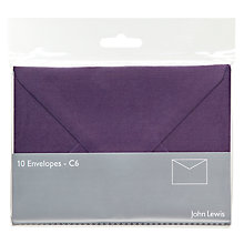 Buy John Lewis Invitation Envelopes, C6, Pack of 10 Online at johnlewis.com