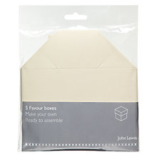 Buy John Lewis Table Favour Boxes, Square, Pack of 5 Online at johnlewis.com